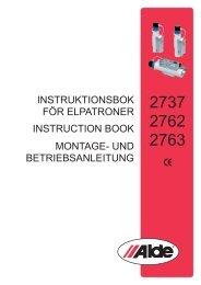 INSTRUKTIONSBOK FÖR ELPATRONER INSTRUcTION BOOK ...