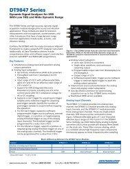 DT9847 Series Datasheet - Acoutronic.se