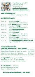 Entwurf Jahresprogramm 2012 - Haus des Friedens