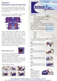 Technical Datasheet Vacuum Fixation Mats