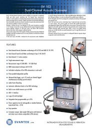 SV 102 Dual-Channel Acoustic Dosimeter - Acoutronic.se