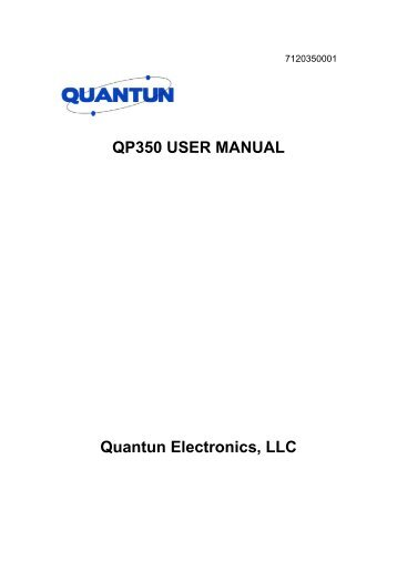 QP-350 User Manual - Advanced Wireless Communications
