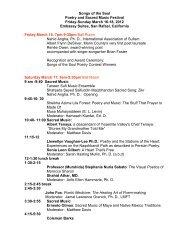 Songs program - International Sufi Movement USA