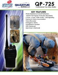 QP-725 Brochure - Advanced Wireless Communications