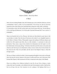 1 Religious Gatheka – Hazrat Inayat Khan 31 Moses Moses, the ...