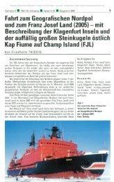 Fahrt zum Geografischen Nordpol und zum Franz Josef Land (2005 ...