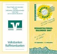 Volksbanken Raiffeisenbanken - rosenheimer bauernherbst