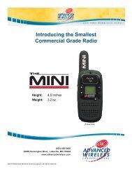 AWC Mini Brochure/Specs - Advanced Wireless Communications