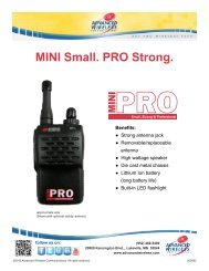 MINI Small. PRO Strong. - Advanced Wireless Communications