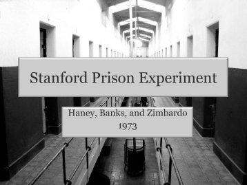 Stanford Prison Experiment - School Sites