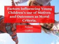 Factors Influencing Young Children's use of Motives ... - School Sites