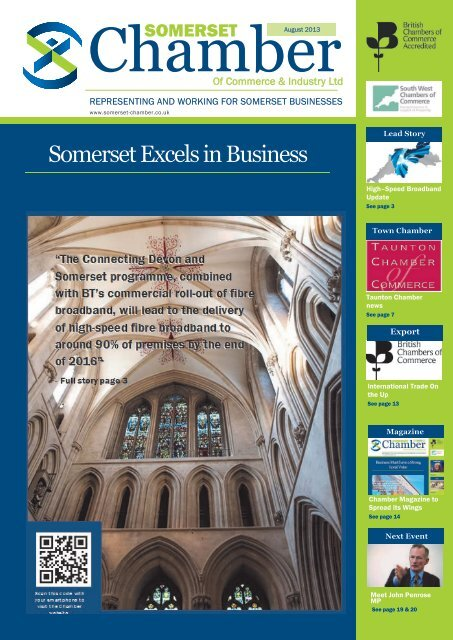 Download the August 2013 edition of the Chamber magazine