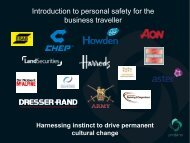 Introduction to personal safety for the business traveller - Somerset ...