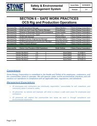 6. Safe Work Practices - Stone Energy Corporation