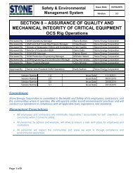 8. Quality Assurance and Mechanical Integrity of Critical Equipment