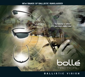 Brochure Tactical Sunglasses - Bollé Safety