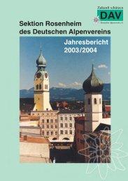 Jahresbericht 2003/2004 - Sektion Rosenheim