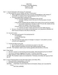 MINUTES IT Advisory Committee Meeting August 21 ... - ITAC Wiki