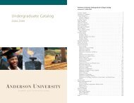 Anderson University Undergraduate Academic Catalog 2004-2006