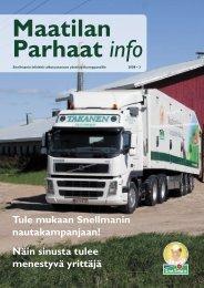 Maatilan Parhaat info 3 / 2008 - Snellman