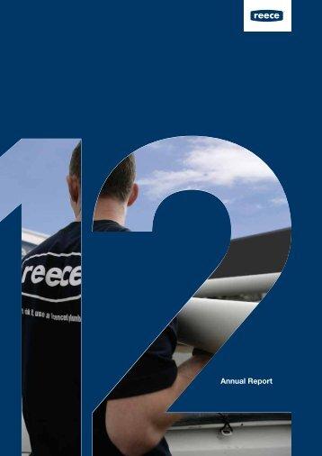 Annual Report 2012 - Reece