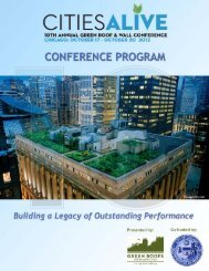 conference program - Green Roofs for Healthy Cities