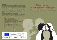 Gegen Gewalt in lesbischen Beziehungen - lars-europe