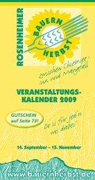GUTSCHEIN auf Seite 73! - rosenheimer bauernherbst