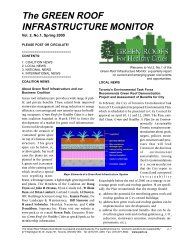 The GREEN ROOF INFRASTRUCTURE MONITOR
