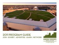 2011 Program guide - Green Roofs for Healthy Cities