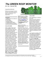 The GREEN ROOF MONITOR - Green Roofs for Healthy Cities