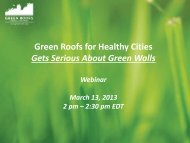 GRHCGetsSeriousAbout.. - Green Roofs for Healthy Cities