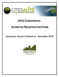 exhibitor registration form - Green Roofs for Healthy Cities