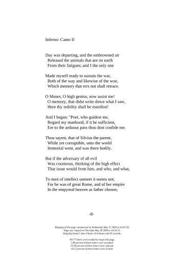 summary of canto 1