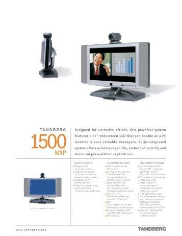 tandberg 1500 mxp videokonferenz videoconferencia rh yumpu com Tandberg 3000 MXP Tandberg 1000
