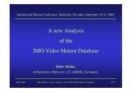 presentation - IMO Video Meteor Network Homepage
