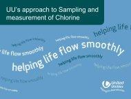 Public Health Presentation sampling chlorine ... - United Utilities