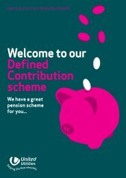 Welcome to our Defined Contribution scheme - About United Utilities