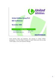 United Utilities Group PLC EEI Conference - About United Utilities