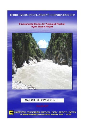 Study of Managed River Flow - THDC India LTD