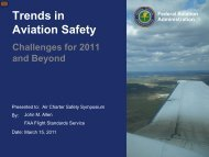 Trends in Aviation Safety - Air Charter Safety Foundation