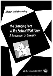 A Symposium on Diversity - US Merit Systems Protection Board
