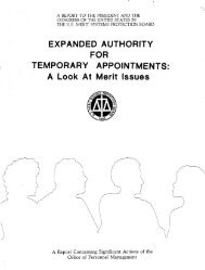 EXPANDED AUTHORITY FOR TEMPORARY APPOINTMENTS: A ...