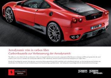Aerodynamic trim in carbon fibre Carbonbauteile zur Verbesserung ...