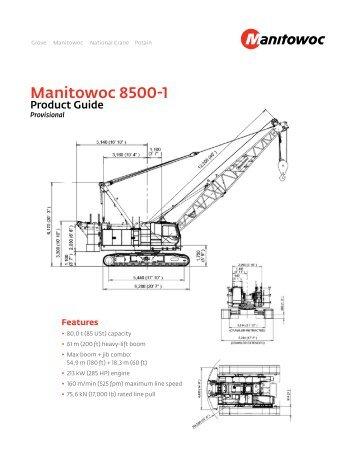 Manitowoc 18000 Crane Chart