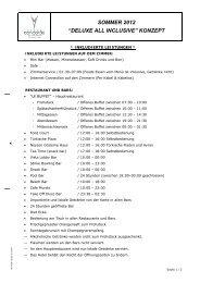 """sommer 2012 """"deluxe all inclusive"""" konzept - Concorde De Luxe ..."""