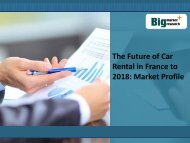 The Future of Car Rental in France to 2018: Market Profile