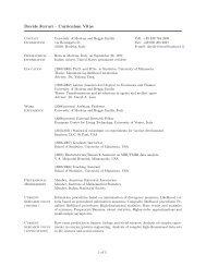 Davide Ferrari – Curriculum Vitae - RECent