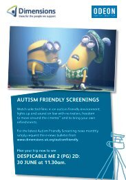 autism friendly screenings every month