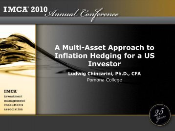 A Multi-Asset Approach to Inflation Hedging for a US Investor
